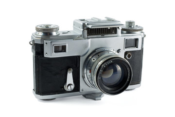 Old rangefinder photo camera