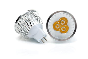 Two LED bulbs MR16.