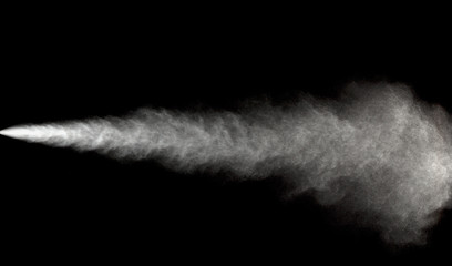 spraying water in motion.