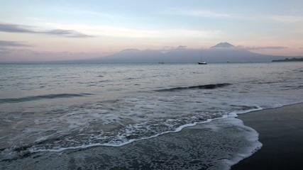 Ocean coast in Java,Indonesia