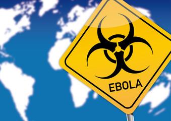 Achtung Ebola, blauer Himmel