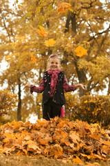 girl in an autumn park
