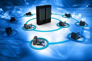 3d render of Computer Network
