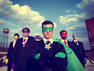 Businessmen Superhero Team Confidence Concepts