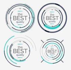 Thin line neat design logo set, premium quality