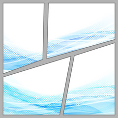 Transparent dotted blue background page