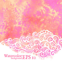 Vector watercolor background. Painting.