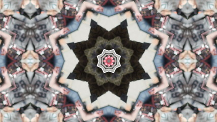 Changing abstract kaleidoscope pattern loop.