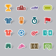 Sport Competition Color Icon Label