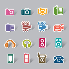 Photography and Sound Color Icon Label
