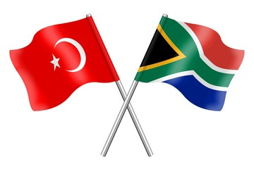 Flags: Turkey and South Africa