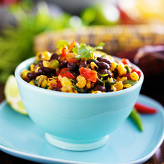 mexican fire roasted corn and black bean salsa