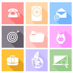 Set icons for web and mobile applications