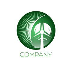 wind generator  logotype