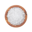 sea salt in wooden bowl for cooking or spa - 72241386