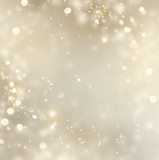 Fototapety Christmas gold background. Golden holiday glowing background