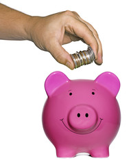 Piggy Bank and hand