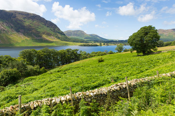 Crummock Lake District Cumbria England UK