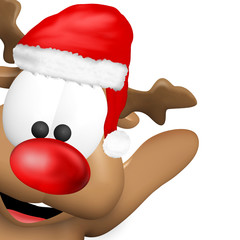 Reindeer Christmas red