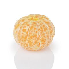 peeled single tangerine