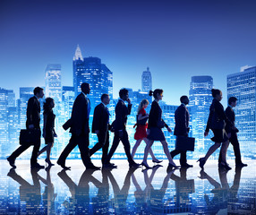 Business People New York Commuting Concepts