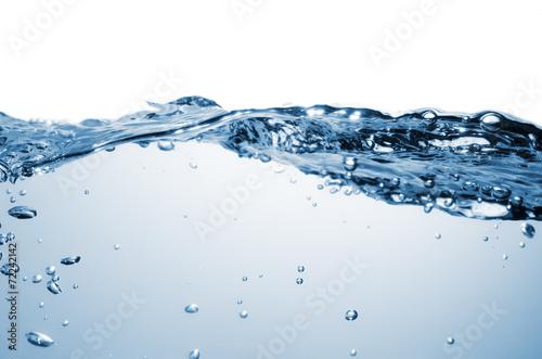 Leinwandbild Motiv transparentes Wasser vor weissem Hintergrund.