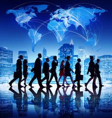 Global Business People Corporate Walking City
