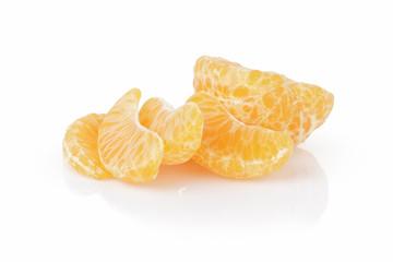 segments of ripe tangerine