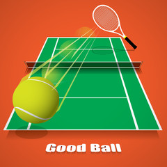Tennis game concept vector
