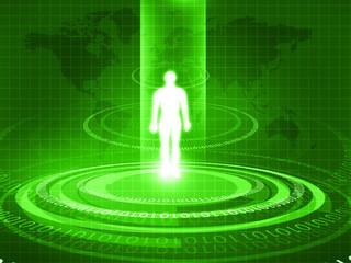 Human body analyzed with new technology .