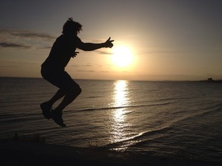 jumping until the sun