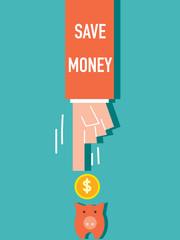 Word Save Market VECTOR ILLUSTRATION