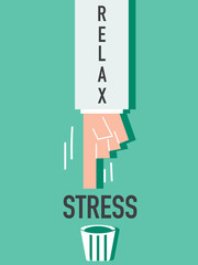 Word Relax VECTOR ILLUSTRATION