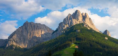 Cima Undici and Cima Dodici mounts at sunset, Dolomites