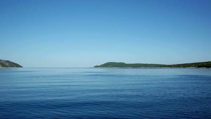 Mediterranean islands and blue sea landscape
