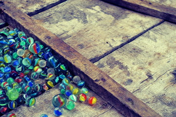 Colorful marbles background