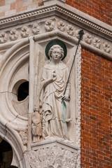 Dettagli del Palazzo dei Dogi, Venezia, Veneto, Italia