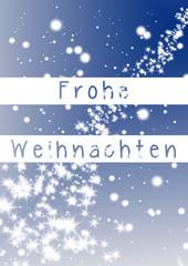 Weihnachtskarte mit Sternenhimmel