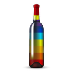Color Glass Wine Bottle