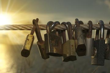 Lock on sling represent their love