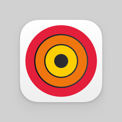 Colorful app icon. Vector template