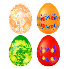 Set color Easter egg with elements of traditional Russian painti