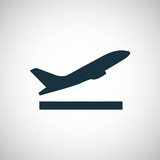 Fototapety airplane up icon