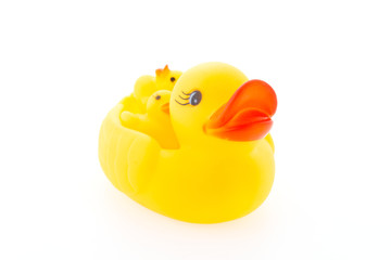 Duck toy isolated on white background