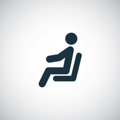 seating man icon