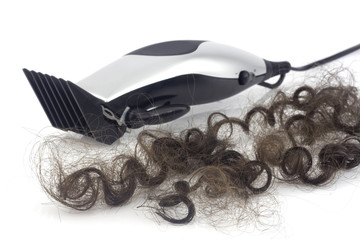 Lock of hair with clipper