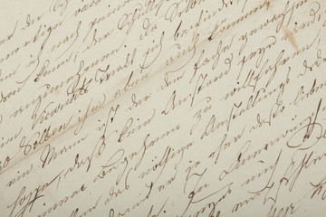 Old handwriting, antique letter