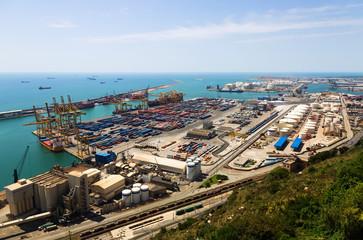 Industrial port of Barcelona