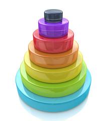 3d Layered pyramid