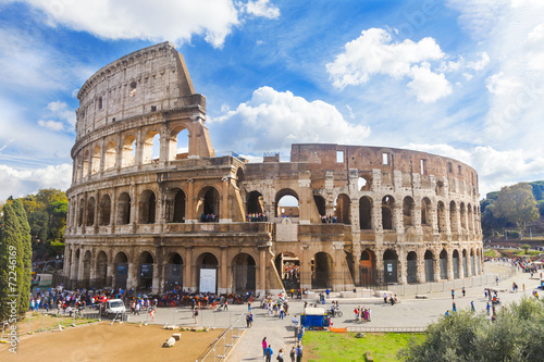 Staande foto Rudnes Colosseum in Rome, Italy